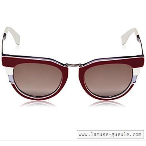 c64424b088c2c Fendi Metropolis sunglasses in bordeaux and grey